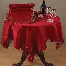 Christmas Plaid Table Runner by Amazon Com Holiday Christmas Poinsettia Red Tablecloth 72 Inch