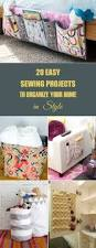 easy sewing projects to organize your home in style