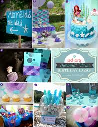 mermaid party ideas themed birthday party ideas