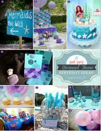 mermaid birthday party mermaid themed birthday party ideas