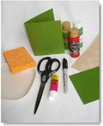 handmade christmas card ideas sponge stamped holly