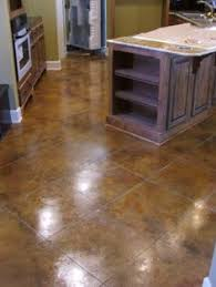 Basement Floor Stain by Diy Acid Stain Concrete Floors Acid Stained Concrete Floor With