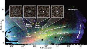 Milky Way Galaxy Map Seven Or Eight Dwarf Galaxies Discovered Orbiting The Milky Way