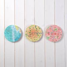 Circle Map Personalised Map Location 3d Circle Wall Art By Bombus