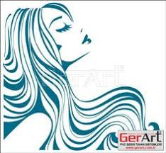 set of beautiful girls with long wavy hair vector female icon for