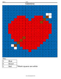 3ds4 valentine color math fact coloring page coloring squared