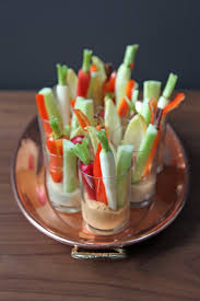individual hummus and crudites appetizers popsugar food