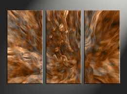 3 piece brown oil paintings abstract photo canvas