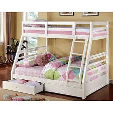 Furniture Of America California III Twin  Full Bunk Bed White - Furniture of america bunk beds