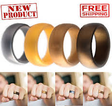 Silicone Wedding Ring by Men Silicone Wedding Ring 4 Pack Affordable Bands Gold Silver