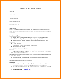 Sample Resume Objectives For Preschool Teachers by Resume Objective For Teacher Best Sample Resume