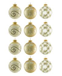 glass champagne ornament set tree classics
