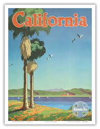 California travel posters images California vintage travel poster usa in posters pinterest jpg