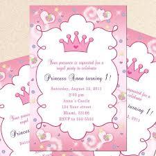 template classic princess birthday invitations template free