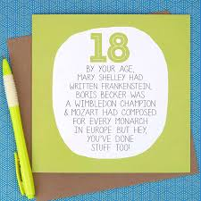 by your age u2026 funny 18th birthday card by paper plane