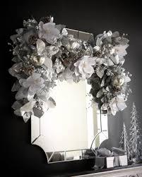 white garland inspired silver and white window garland kittie kraft