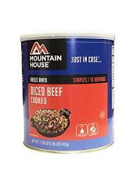 amazon com mountain house cooked diced beef 10 can freeze