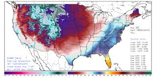 United States Temp Map by Noaa Forecasts Major December Cold Blast For Nearly All The Usa
