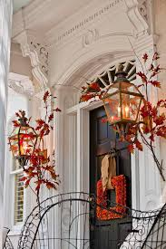 fall front porch ideas pumpkins