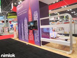 home decor trade shows trade show booths nyc displays nimlok booth with tv idolza