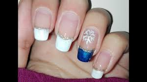 diy easy winter nail art tutorial french manicure no tools