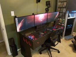 Game Computer Desk by 100 Pc Desk Case Build Log Project Black U0026 White Vector