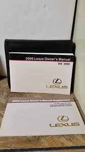 2000 lexus rx 300 owners manual