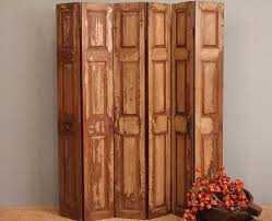 Tri Fold Room Divider Screens Room Divider Screen Wood Folding Rustic Door Panels Headboard