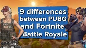 pubg vs fortnite 9 big differences between fortnite battle royale and pubg