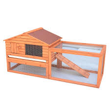 Sale Rabbit Hutches Pawhut Wooden Rabbit Hutch With Outdoor Run