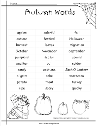 fall pictionary words list for kids google search fall theme