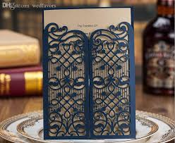 royal blue wedding invitations hollow wedding invitation cards personalized royal blue laser