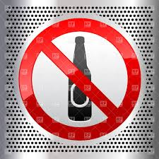 drink vector alcohol prohibited signs don u0027t drink vector clipart image 18160