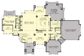 modern house plan with 4 bedrooms and 4 5 baths plan 9739