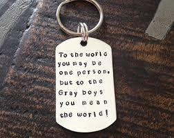 personalized keychain gifts quote keychain etsy