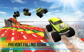 video monster truck impossible tracks sky racing monster truck race android apps on