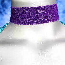 stretchy ribbon 30mm 1 3 16 vibrant purple floral elastic lace ribbon choker