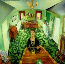 my mother alone in her dining room art uk