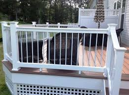 outdoor u0026 garden appealing white painted deck railing designs