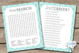 word search and bride quiz printable bridal shower games how