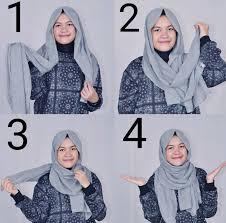 tutorial hijab pashmina kaos yang simple 85 gambar terbaru tutorial hijab pashmina mahasiswa 2017 tutorial