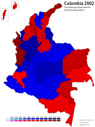 Map Of Election Results by Colombia World Elections