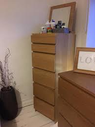Bedroom Furniture Oak Veneer Ikea Malm Oak Veneer Bedroom Set In East Kilbride Glasgow
