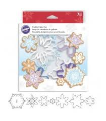 wilton colored snowflakes cookie cutter set 7 pc kitschcakes