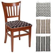 popular chair pads square striped dining room seat mat valbella