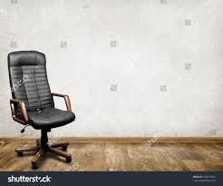 Black Leather Armchair Black Leather Armchair Room Business Interior Stock Photo