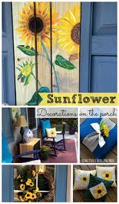 Fall Decorated Porches - sunflower decorations for your porch