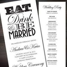 black and white wedding programs entering mars tom sachs typography toms and