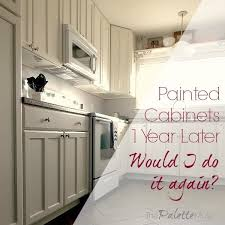 can kitchen cabinets be painted painted kitchen cabinets one year later the palette muse