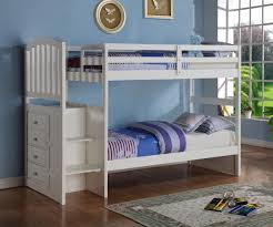 Donco Arch Stair Stepper Bunk Bed White Bedroom Furniture Stair - Donco bunk beds